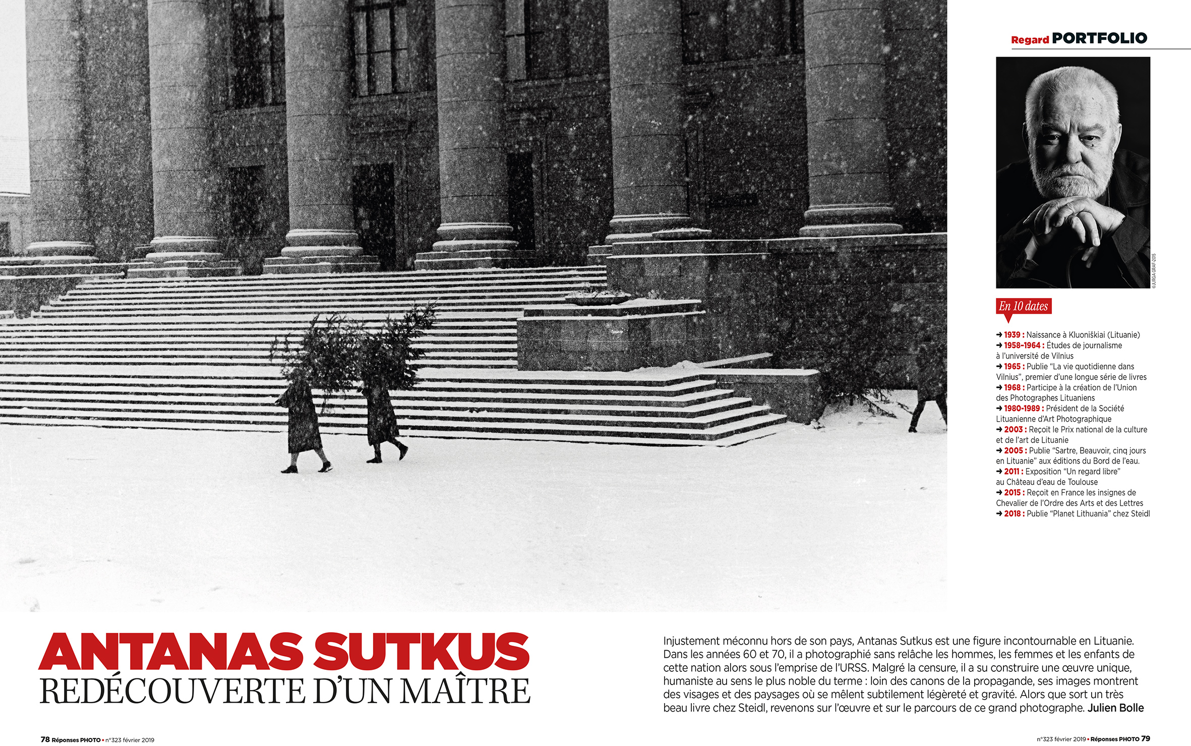 Antanas Sutkus Portrait in Réponses Photo Magazine 2019