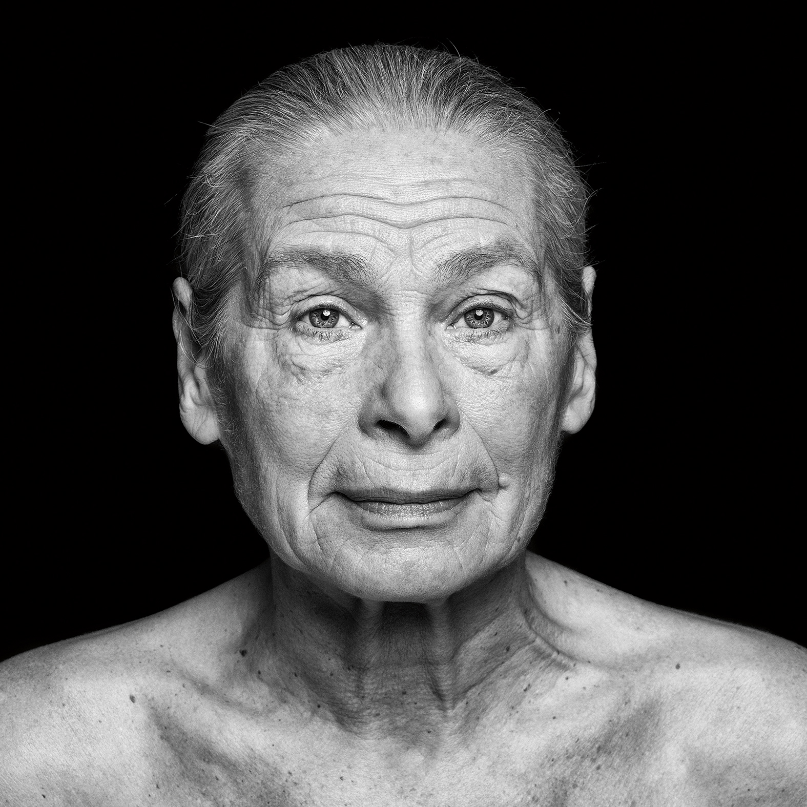 "Artist Birute Stulgaite from photography series ""Wrinkles of Existence"""