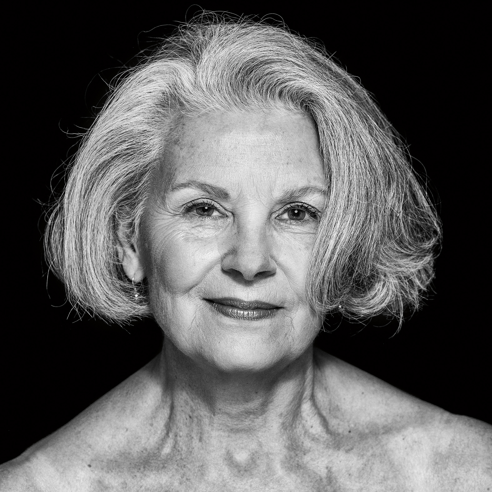"Portrait of Cathleen Katte from photography series ""Wrinkles of Existence"""