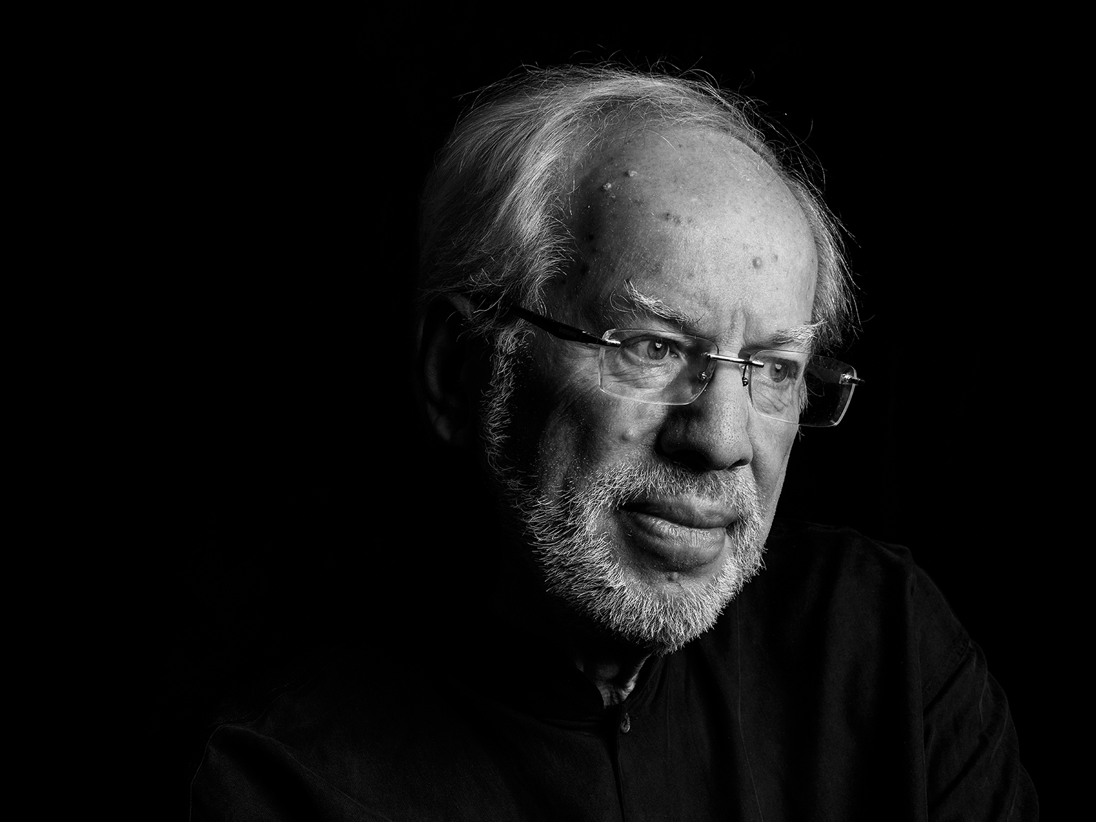 Portrait of violinist Gidon Kremer at home in Vilnius