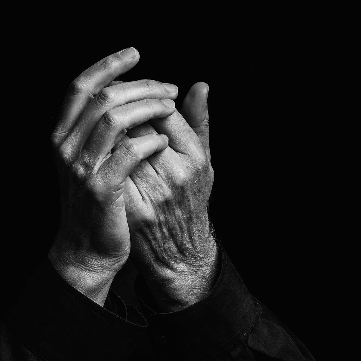 Hands of violinist Gidon Kremer in Vilnius