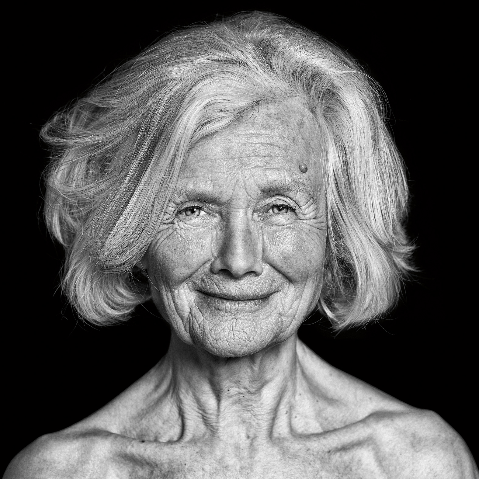 "Portrait of Rosemarie from series ""Wrinkles of Existence"""